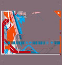 high tech background vector image vector image