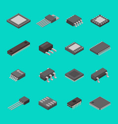 isolated microchip semiconductor computer vector image