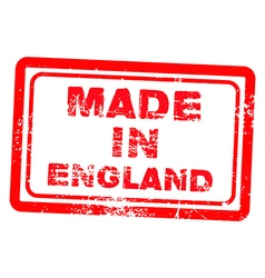 made in england red grunge stamp vector image