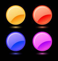 set of glossy circles vector image vector image
