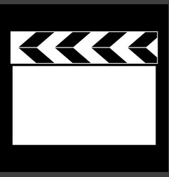 Cinema clapper it is the white color icon vector