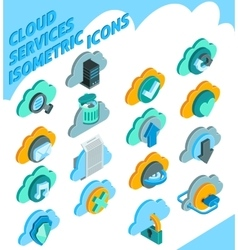 Cloud Services Icons Set vector image