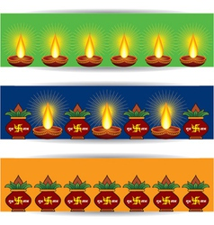 Diwali banner for website vector