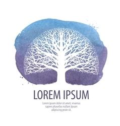 leafless tree logo oak icon nature vector image