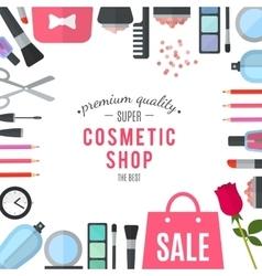 Professional quality cosmetics shop vector image
