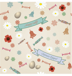 retro easter seamless pattern vector image vector image