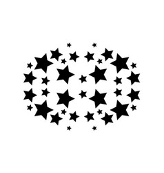 Abstract background black star style vector