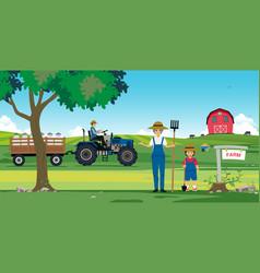 agricultural farm vector image