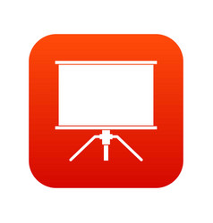 blank projection screen icon digital red vector image