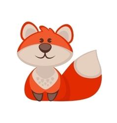 Fox funny cartoon character Cute icon vector image vector image