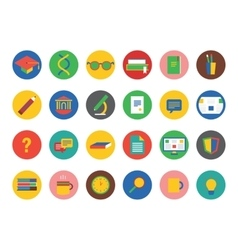 University icons set education students vector