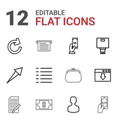12 app icons vector