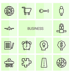 14 business icons vector