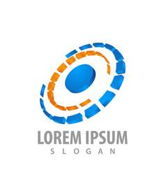 3d rotation round logo concept design symbol vector image
