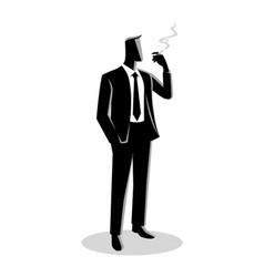 A businessman smoking vector