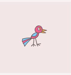 a funny bird vector image