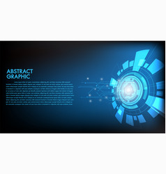 abstract technology background hi-tech vector image
