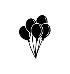 air balloon bunch of balloons flat icon vector image