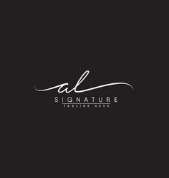 Al initial signature logo handwritten logo vector