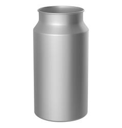 aluminium milk can vector image