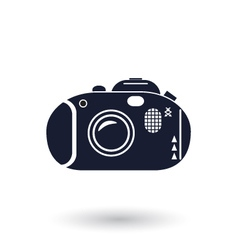 Black and white camera icon vector image