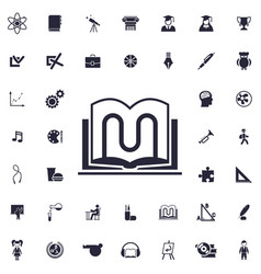 Book stand icon vector