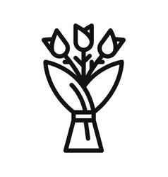 bouquet icon vector image
