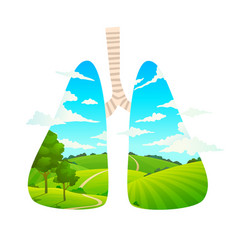 breafresh air forest is lungs of vector image