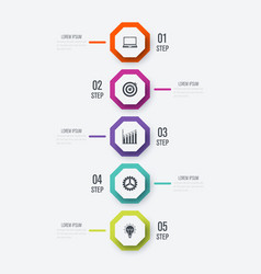 business infographics template 4 steps vector image