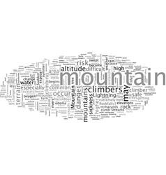 Bwm mountain hazards vector