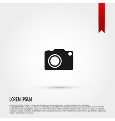 camera icon flat design style template vector image