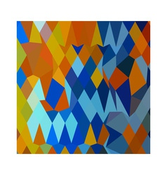 Cerulean Blue Harvest Gold Abstract Low Polygon vector