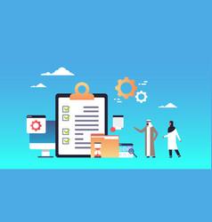 checklist survey project management arab business vector image