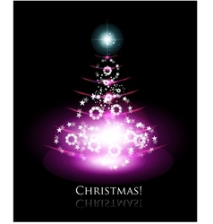 christmas glowing tree vector image