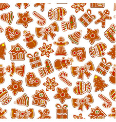 Christmas holiday seamless cookie pattern vector