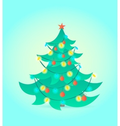 Christmas tree on blue background vector