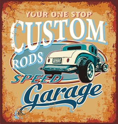 Classic custom rod vector