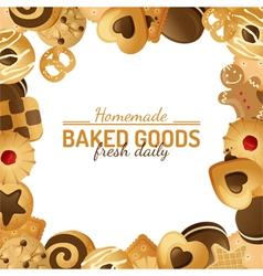 Cookie background vector