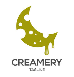 creamery logo design vector image