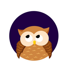 Cute cartoon owl on a white background vector