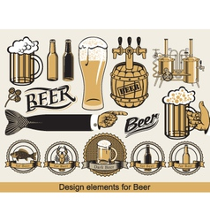 Design for beer vector