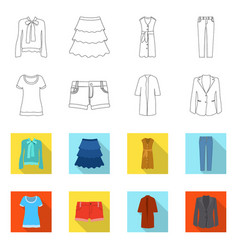design of woman and clothing icon vector image