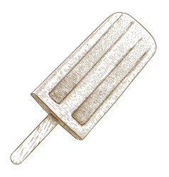 Engraving of popsicle vector