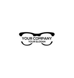 Eyeglass black logo design vector
