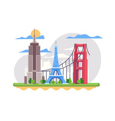 famous french landmark vector image