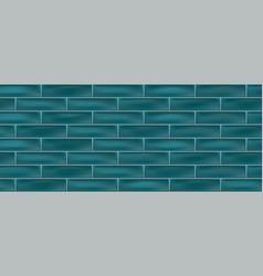 Green metro brick ceramic tiles vector