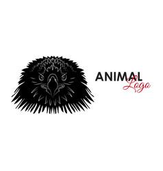 head eagle icon logo symbol vector image