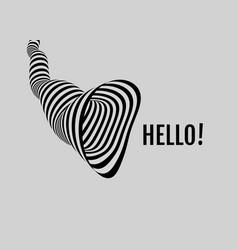 hello 3d vector image