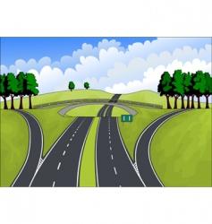 Highway in the summer landscape vector