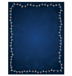 Holiday christmas light background vector